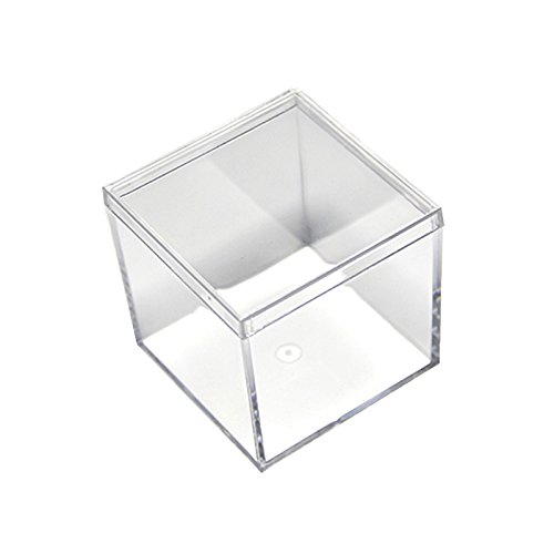 24 Pack Small Clear Acrylic Candy Boxes Cube