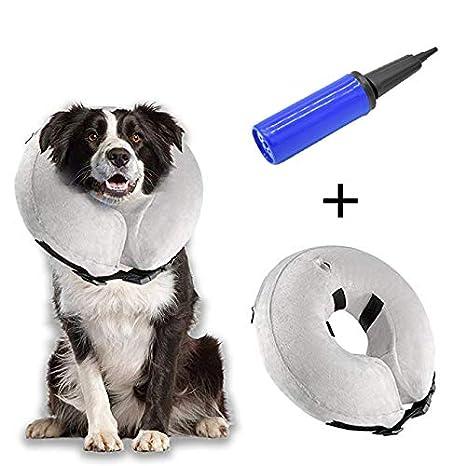 Hengu Collar Inflable de recuperación de Mascotas, Cuello Blando Ajustable para Gatos o Perros, Evita Que la Mascota Lame Tocando heridas y Promueva ...