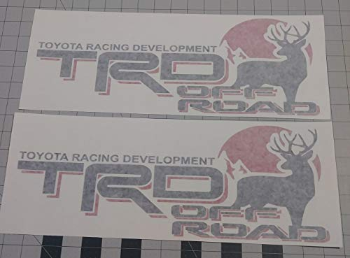 Toyota TRD Truck Off-Road 4x4 Racing Deer Hunting Tacoma Decal Vinyl Stickers (BLACK / RED)