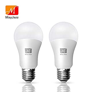 MayJazz 3 Way LED Light Bulbs 2 Pack 50 75 100 A19 Dimmable Warm White 3000k,6/10/15W (50/75/100W Equivalent) 500/1200/1600Lm E26 Base