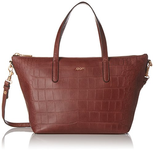 JOOP Croco Soft Helena Handbag Mhz, Borsa a mano Donna Marrone (Brown)
