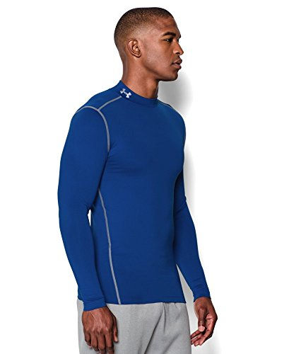Under Armour Men's ColdGear Armour Compression Mock Long Sleeve Shirt, Royal /Steel, XXX-Large by Under Armour (Image #2)