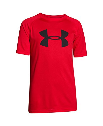 Under Armour Boys' Tech Big Logo T-Shirt, Risk Red (613), Youth X-Large
