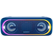 Sony XB40 Portable Wireless Speaker with Bluetooth and Speaker Lights, Blue (Certified Refurbished)