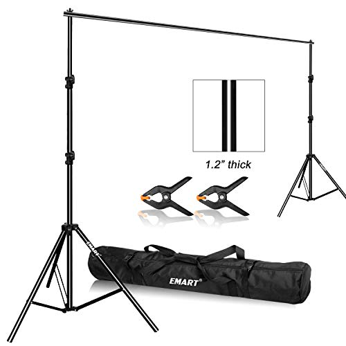 12' Heavy Paper - Emart Photo Video Studio 9.2 x 10ft Heavy Duty Background Stand Backdrop Support System Kit with Carry Bag for Photography