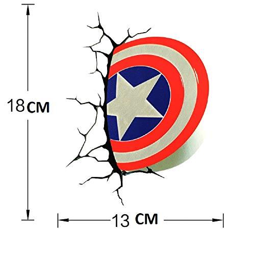 Hot Cool Avengers Stickers Marvel DC Decals 3D Broken Car Stickers Ironman Spiderman Batman Creative Stickers Decorations