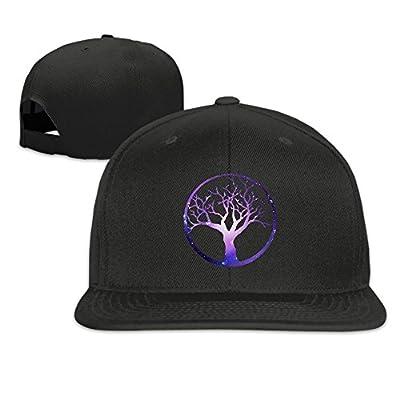 Galaxy Bonsai Tree in Enso Circle-1 Plain Adjustable Snapback Hats Men's Women's Baseball Caps