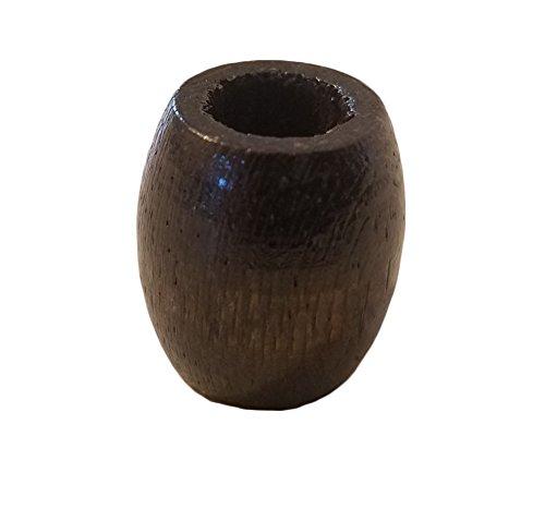 20mm x 22mm Barrel Wood Macrame Beads, 50 Count Bag (Walnut) ()