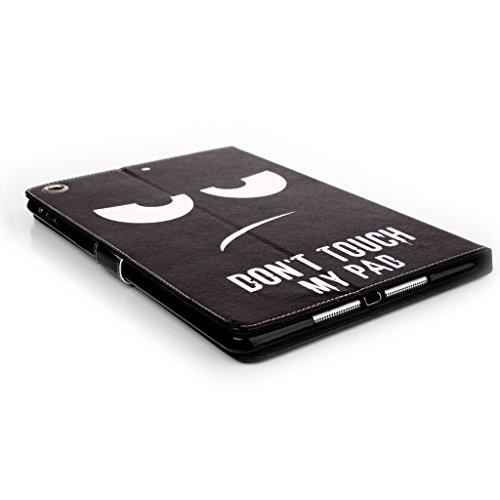PowerQ Retro [ para IPad Air IPad5 - black tower ] Modelo colorido de la PU-Lether Case Series Funda con hermosa bonita del modelo de impresión Impresión Dibujo PU cubierta de la caja de la pistolera  black eyes