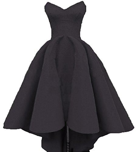 Lo Evening Women's Formal Black Prom Sweetheart Dresses Hi Homecoming Dresses Ruffles DKBridal wESqzR66