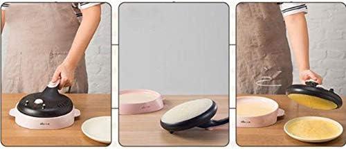 Crepe Maker Machine de crêpe électrique 20cm 600w de mini-pizza de revêtement de revêtement antiadhésif d'acier inoxydable de machine de crêpe