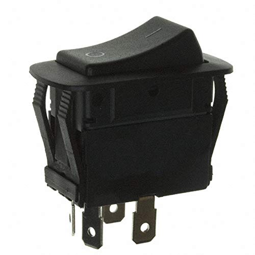 SWITCH ROCKER DPST 20A 125V (Pack of 5) (KGC3ANB1BBD) by ZF Electronics