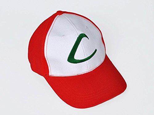 Pokemon ASH Ketchum Visor Cap Cosplay Hat Pocket