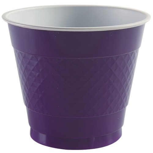 Party Dimensions 81281 18 Count Plastic Cup, 9-Ounce, Purple