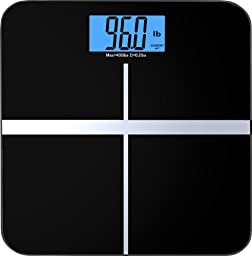 BalanceFrom C400BLK High Accuracy Premium Digital Bathroom Scale with 3.6\