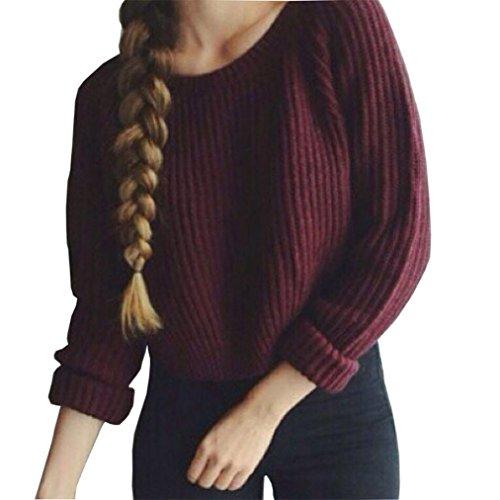Womens Casual Long Sleeve Knitwear Jumper Cardigan Sweater Pullover - 7