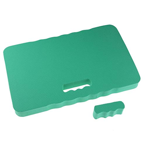 B Blesiya Comfort Kneeling Pad Cushion Soft Foam Sitting Travel Yoga Gardening Kneeler - Green, 45x28x4cm