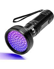 LE UV-lampa, svart ljus LED-ficklampa, 68 LED 395nm ultraviolett ficklampa för falska sedlar, urin från hundar och andra husdjur Ficklamptillbehör, drivs av AA-batterier