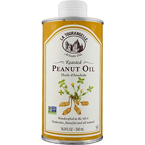 La Tourangelle Roasted Peanut Oil 16.9 Fl. Oz., Rich Flavorful Peanut Oil, Great in African and Asian Cooking or as a -
