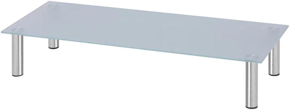 vidaXL Elevador de Monitor/Soporte de TV 100x35x17 cm Cristal Blanco: Amazon.es: Electrónica