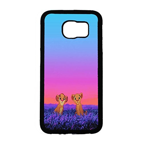 Case Shell Cute Funny Disney Cartoon The Lion King Phone Case Cover for Samsung Galaxy S6 Anime Popular
