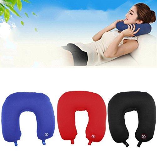U Shape Travel Pillow Neck Massage Microbead Battery Oper...