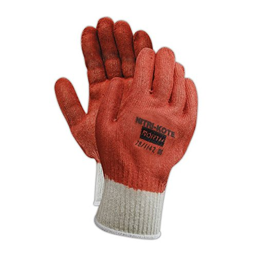 Gloves Knit Reversible - North by Honeywell 78/1142S Nitri-Kote 781142 Reversible Nitrile Coated Knit Gloves, Ladies (Fits Medium), Orange, Ladies Small (Fits XS) (Pack of 12)