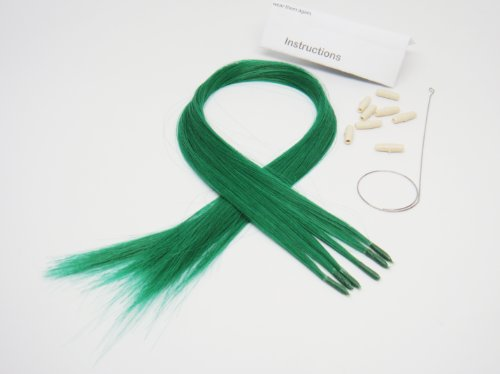 [Beautiful Color Hair Extensions New Generation Dark Green Free Shipping] (Mileys Halloween Costume)