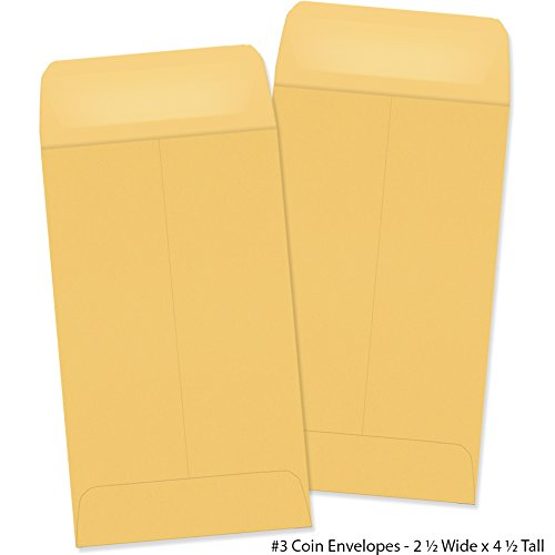 #3 Coin Envelopes - 50 Envelopes - 2-1/2