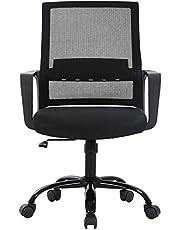Office Chair Ergonomic Desk Chair Mesh Computer Chair Lumbar Support Modern Adjustable Rolling Swivel Chair Comfortable Home Office Chair,Black