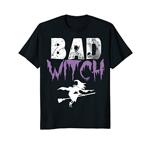 Mens Bad Witch Shirt Funny Halloween Womens Gift Idea T-Shirt XL Black for $<!--$14.95-->