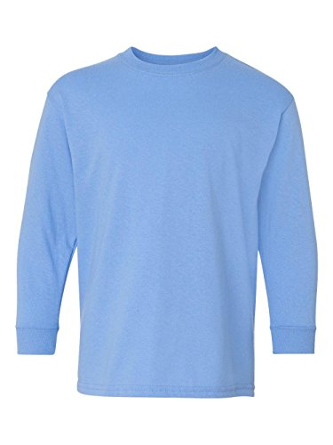 Gildan G540B Youth 5.3 oz. Heavy Cotton Long-Sleeve T-Shirt L CAROLINA BLUE ()
