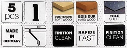 Lot 5 hojas sierra caladora fijación encajes Attache Peugeot - para máquina antigua: Amazon.es: Bricolaje y herramientas