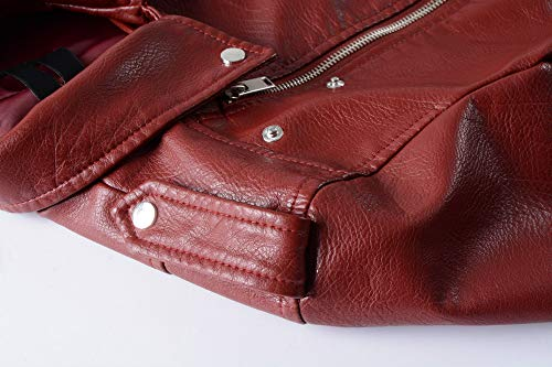 Pu Colores l Fit Moto Xsqr Slim De Párrafo Cremallera 5 Abrigo Damas Chaqueta 001 Corto Cuero Ropa WqCwSwxf7p