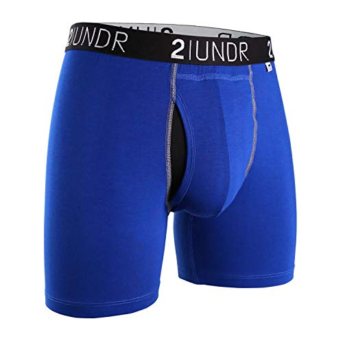 2UNDR Men's Swing Shift Boxers (Blue/Blue, X-Large) ()