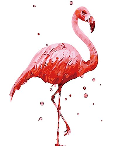DIY Painting by Numbers for Adults, Oil Paint by Number Kits Drawing With Brushes Paint Suitable for All Skill Levels 40x50cm- Flamingos Christmas Gift Home Office Cafe Decor (16)