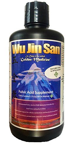 (Wujinsan Pure Fulvic Acid Isolate (HPTA Certified) (.59% Hydrophilic Fulvic Acid Per Bottle) (1 Quart) (Cold Extracted))