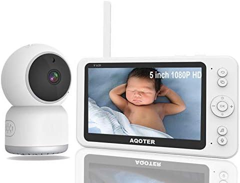 Vigilabebés Inalambrico Bebé Monitor con 5″