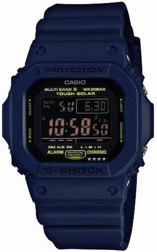 Solar Digital Watch GW-M5610NV-2JF Men Corresponding Radio Station World 6 G-shock Watch Series Navy Blue Casio [Japan Imports] (Casio Digital Radio)
