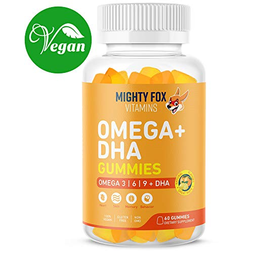 - Vegan Omega 3 6 9 + DHA Gummies for Kids - with Vitamin C for Heart Health, Cognitive Development, Behavior and Vision