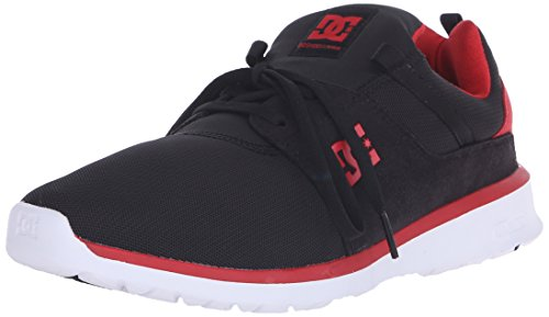 Dc Mens Heathrow Scarpa Da Skate Casual Nera / Rossa