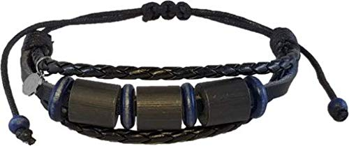 Shark Off Shark Repellent Bracelet Surfwear Jewelry | The Bimini - Repel Sharks with Patented Alloy Shark Repellent on Adjustable Leather Bracelet - Ocean Safety & Peace of Mind for The Whole Family