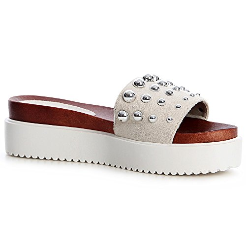 Gris topschuhe24 Light Sandalettes Sandales Femmes IIqv1wg6