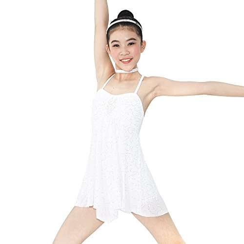 MiDee Dance Costume Lyrical Dress Full Sequins Camisole Ice Skating Dresses (SA, (Ice Skating Costumes)