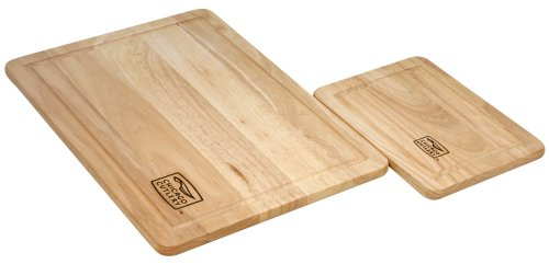 Chicago Cutlery 1079825 2-Piece Woodworks Rubberwood Set, -