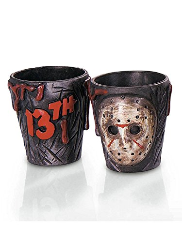 Rubie's Friday The 13th Jason Voorhees Drinking Party Shot Glasses, Set of 2 -