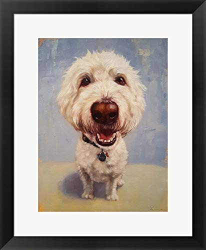 - Molly by Lucia Heffernan Framed Art Print Wall Picture, Black Frame, 19 x 23 inches