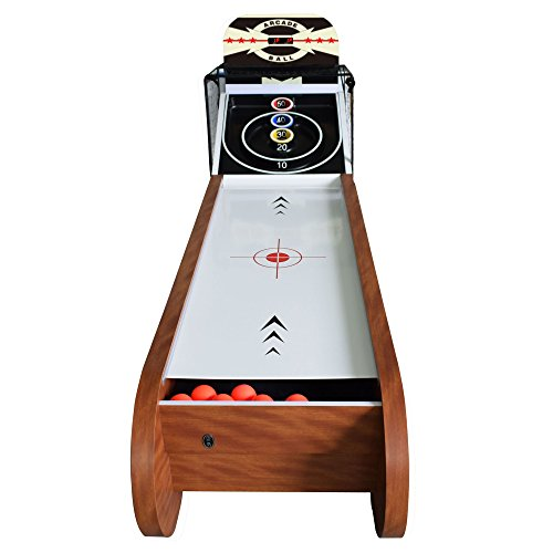 Hathaway Boardwalk 8-ft Arcade Ball Table for Family Game Rooms with LED Track Lighting, Scratch-Resistant Playfield