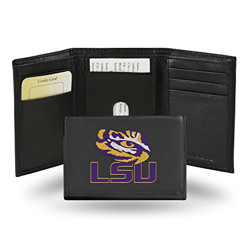 (Rico Industries NCAA LSU Tigers Embroidered Leather Trifold Wallet)