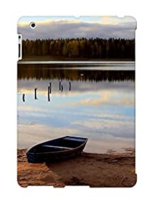 Hot Rowboat On The Lake Shore First Grade Tpu Phone Case For Ipad 2/3/4 Case Cover